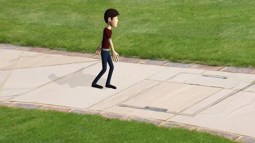 Hakan bahçede yürüyüş yaptığı bir sırada